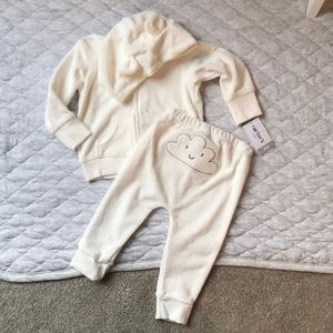 Carter's Cloud Matching Sweats & Zip Sweatshirt